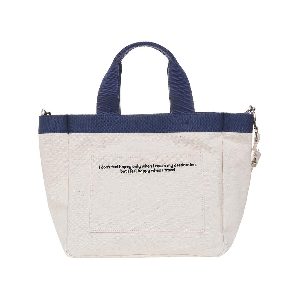 [비아모노] VIAMONOH DAILY MINI TOTE CANVAS BAG (IVORY) 에코백 토트백 미니크로스백 가방