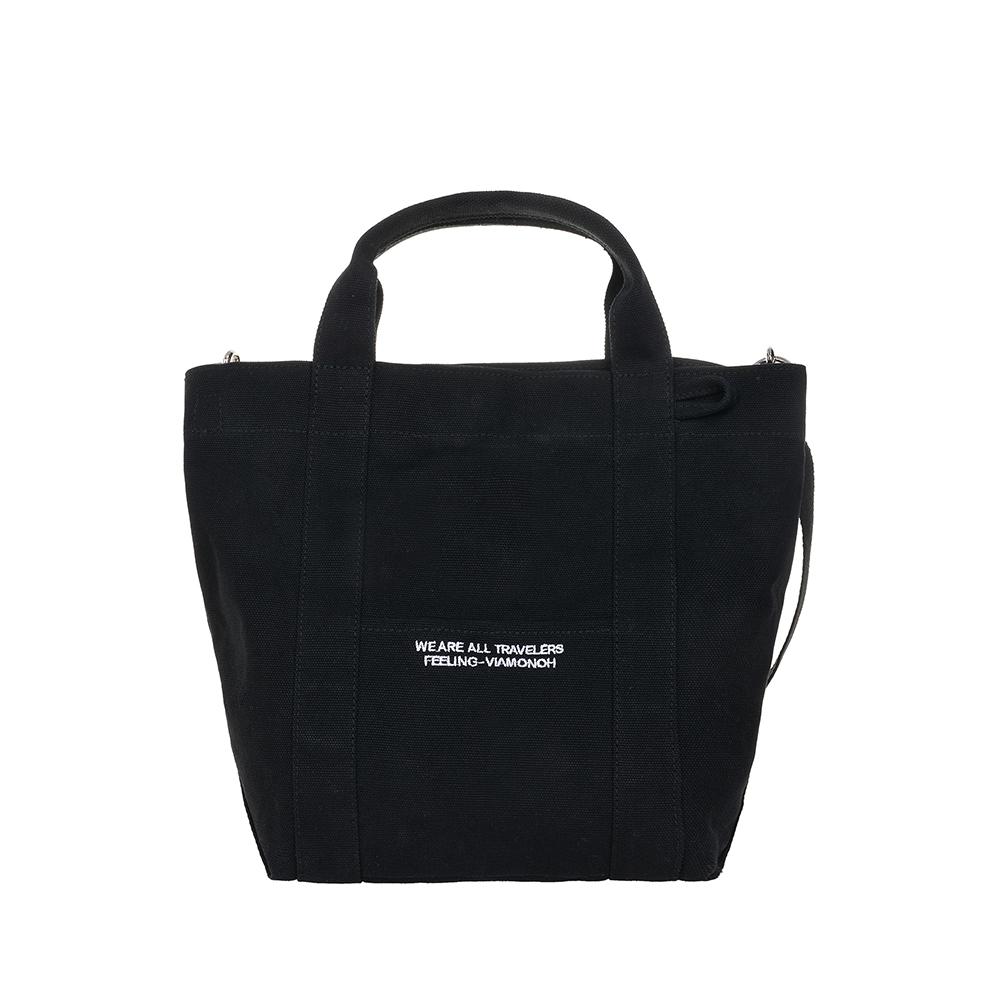 [비아모노] VIAMONOH DAILY TOTE CANVAS BAG (BLACK) 에코백 토트백 크로스백 가방