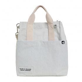 [비아모노] VIAMONOH DAILY CANVAS SHOULDER BAG (DENIM) 에코백 토트백 크로스백 숄더백 가방