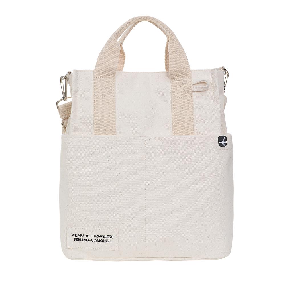 [비아모노] VIAMONOH DAILY CANVAS SHOULDER BAG (IVORY) 에코백 토트백 크로스백 숄더백 가방