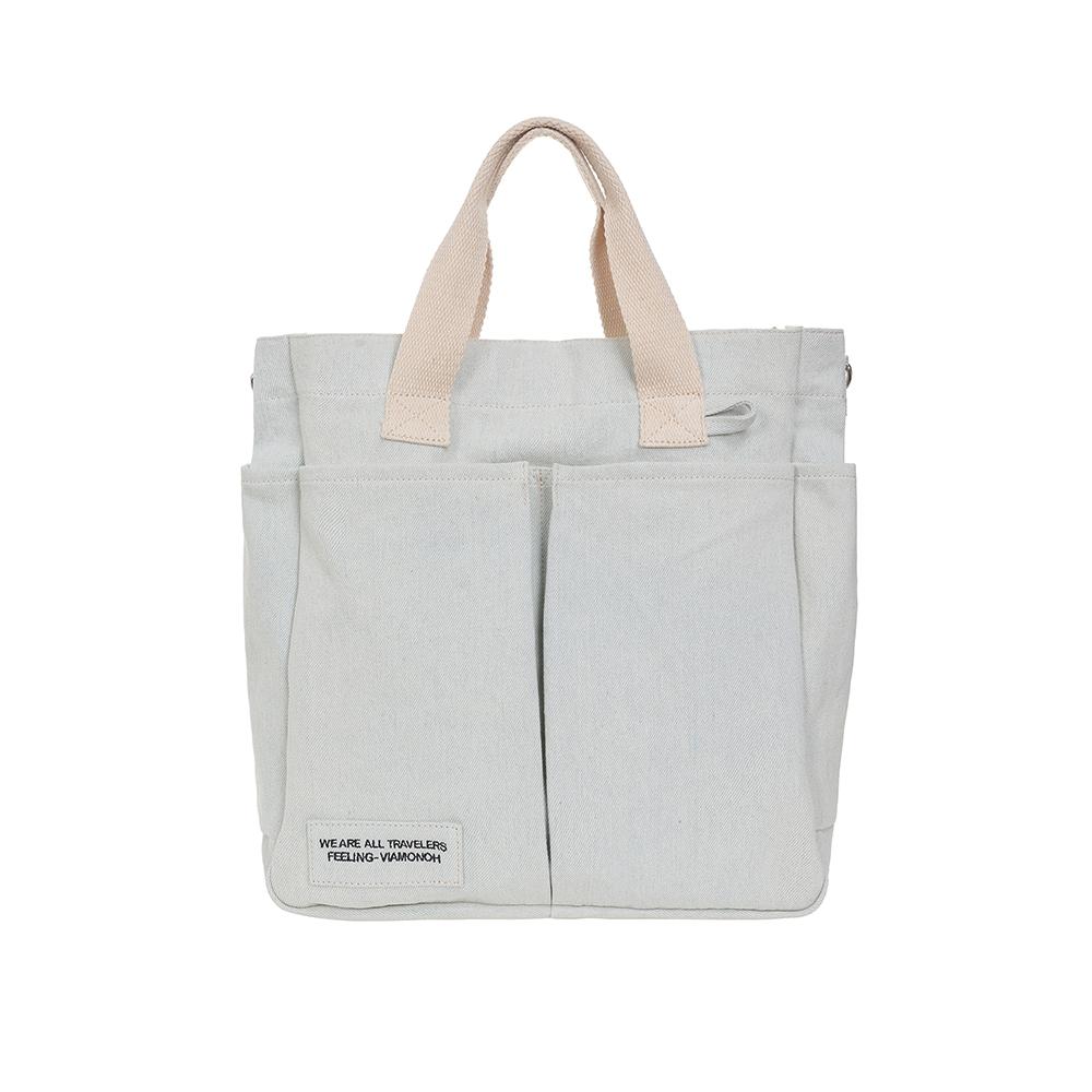 [비아모노] VIAMONOH DAILY TUMBLER BAG (DENIM) 에코백 토트백 크로스백 텀블러백 가방