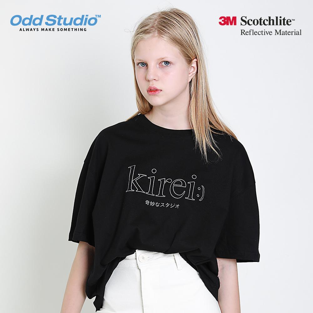 오드스튜디오 키레이 스카치 티셔츠 - BLACK