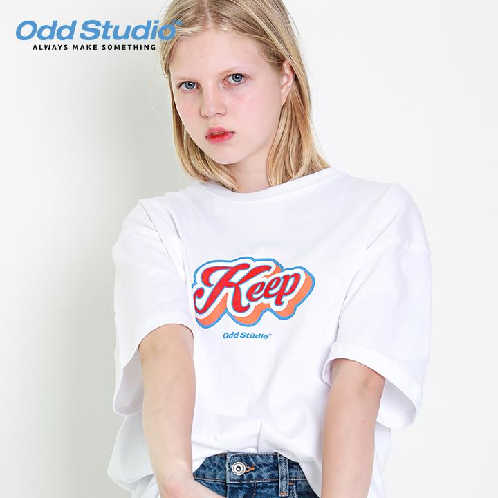 오드스튜디오 킵 로고 티셔츠 - WHITE