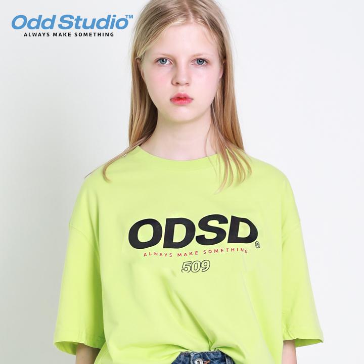 오드스튜디오 ODSD 로고 티셔츠 - LIME
