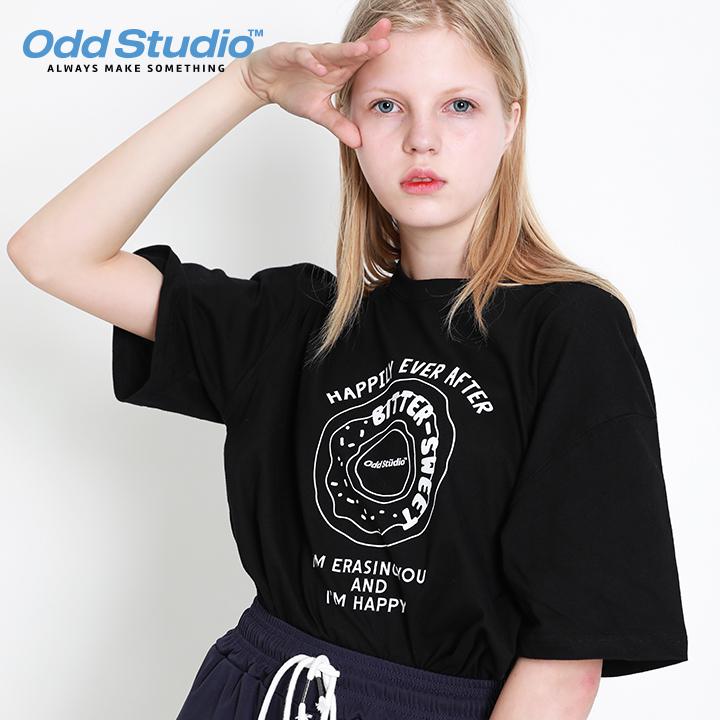 오드스튜디오 오드 도넛 티셔츠 - BLACK