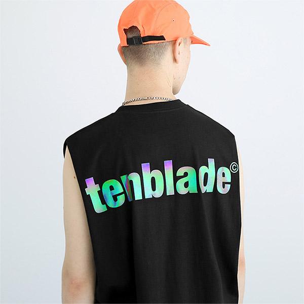 텐블레이드 - 로고 프리즘 나시티셔츠-블랙 스카치 리플렉티브