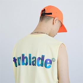 텐블레이드 - 로고 프리즘 나시티셔츠-옐로우 스카치 리플렉티브