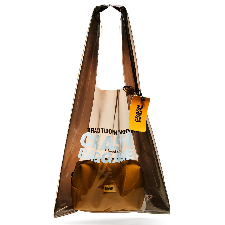 크래쉬 배기지 숄더백 PLAC BAG PVC 2 IN 1 백 BLACK 투명가방