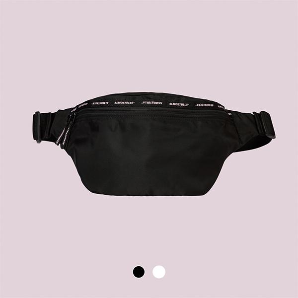 [얼모스트블루]PURPLE LOGO WAIST BAG 힙색 웨이스트백