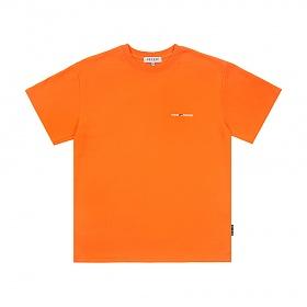 베테제 - Time Half T-Shirt (orange) 타임 하프 티셔츠 (오렌지)