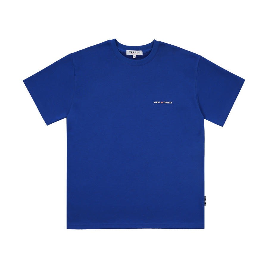 베테제 - Time Half T-Shirt (blue) 타임 하프 티셔츠 (블루)