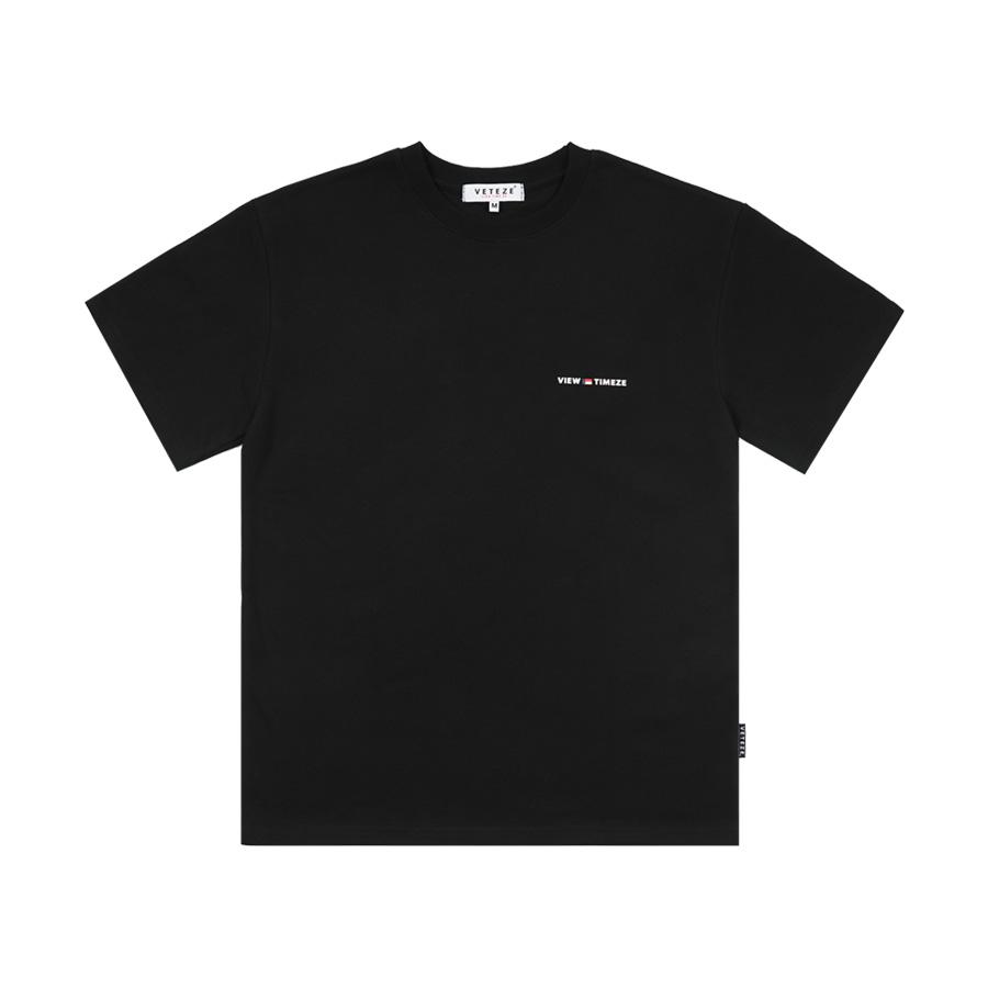 베테제 - Time Half T-Shirt (black) 타임 하프 티셔츠 (블랙)