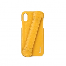 [페넥] FENNEC LEATHER iPHONE X/XS HANDLE CASE - CROCO MANDARIN 아이폰케이스