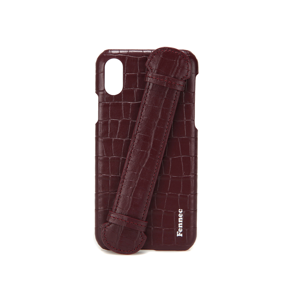[페넥] FENNEC LEATHER iPHONE X/XS HANDLE CASE - CROCO WINE 아이폰케이스