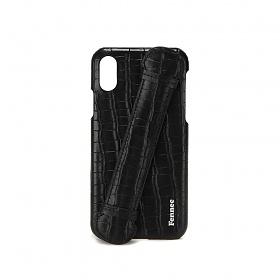 [페넥] FENNEC LEATHER iPHONE X/XS HANDLE CASE - CROCO BLACK 아이폰케이스