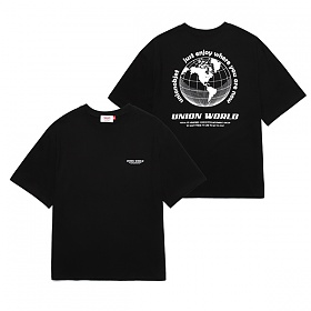 [유니온오브제]UNION WORLD T-SHIRT - BLACK