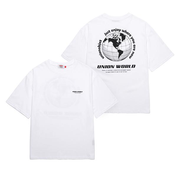 [유니온오브제]UNION WORLD T-SHIRT - WHITE