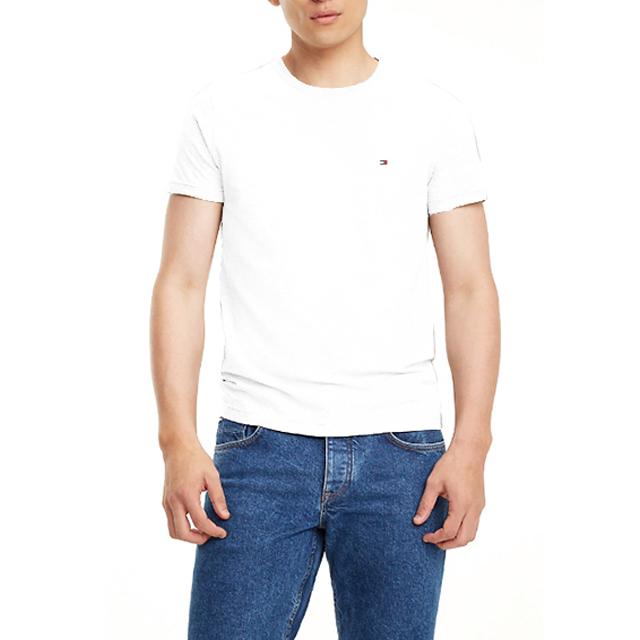 타미힐피거 맨즈 라운드반팔 티셔츠 9808 100 화이트 남녀공용