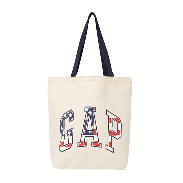 GAP 갭 로고 에코백 숄더백 가방 437228 00 베이지(성조기로고) 정품 국내배송