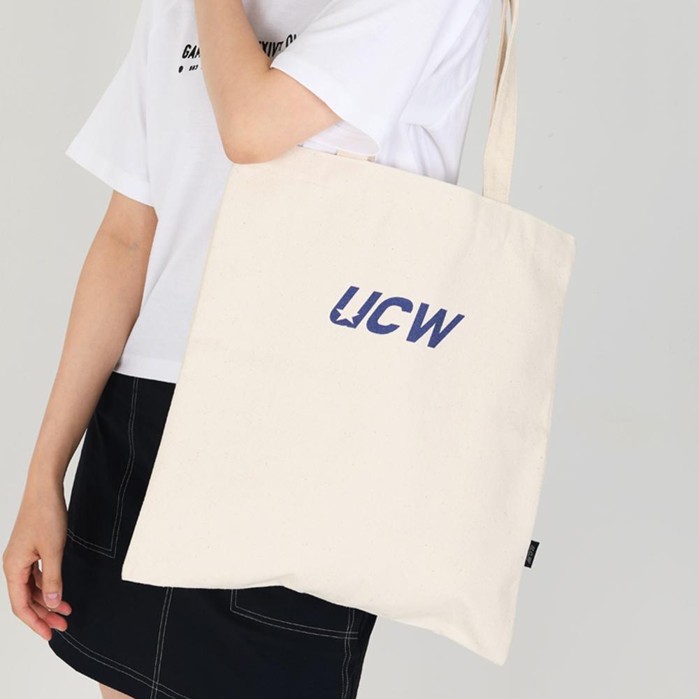 [언클락와이즘] UCW 로고 에코백_아이보리