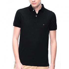 타미힐피거 카라 반팔티 티셔츠 7318 083 블랙 남녀공용 정품 국내배송