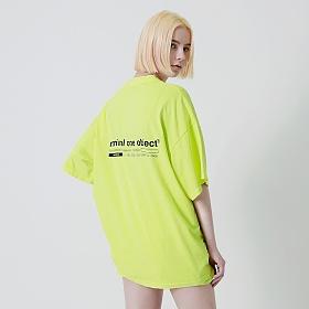 [엠오오] MOO - 커넥트 피그먼트 오버 반팔티 라임