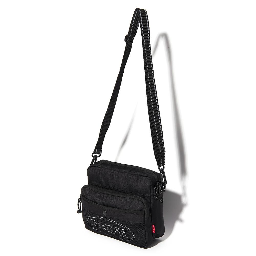 [드라이프]DRIFE - RF CROSS BAG - BLACK 리플렉티브 스카치 크로스백