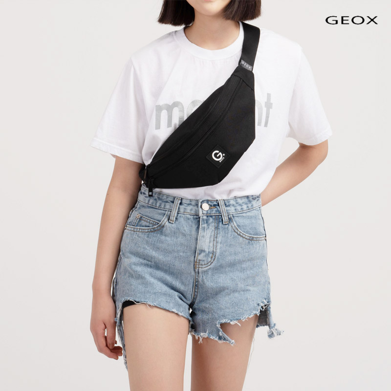 [제옥스]GEOX - NEW LOY WAISTBAG BLACK 뉴로이웨이스트백 블랙