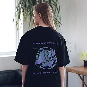 아더로브 유니섹스 글로브 티셔츠 ATS192003-BK 반팔티