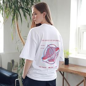 아더로브 유니섹스 글로브 티셔츠 ATS192003-WT 반팔티