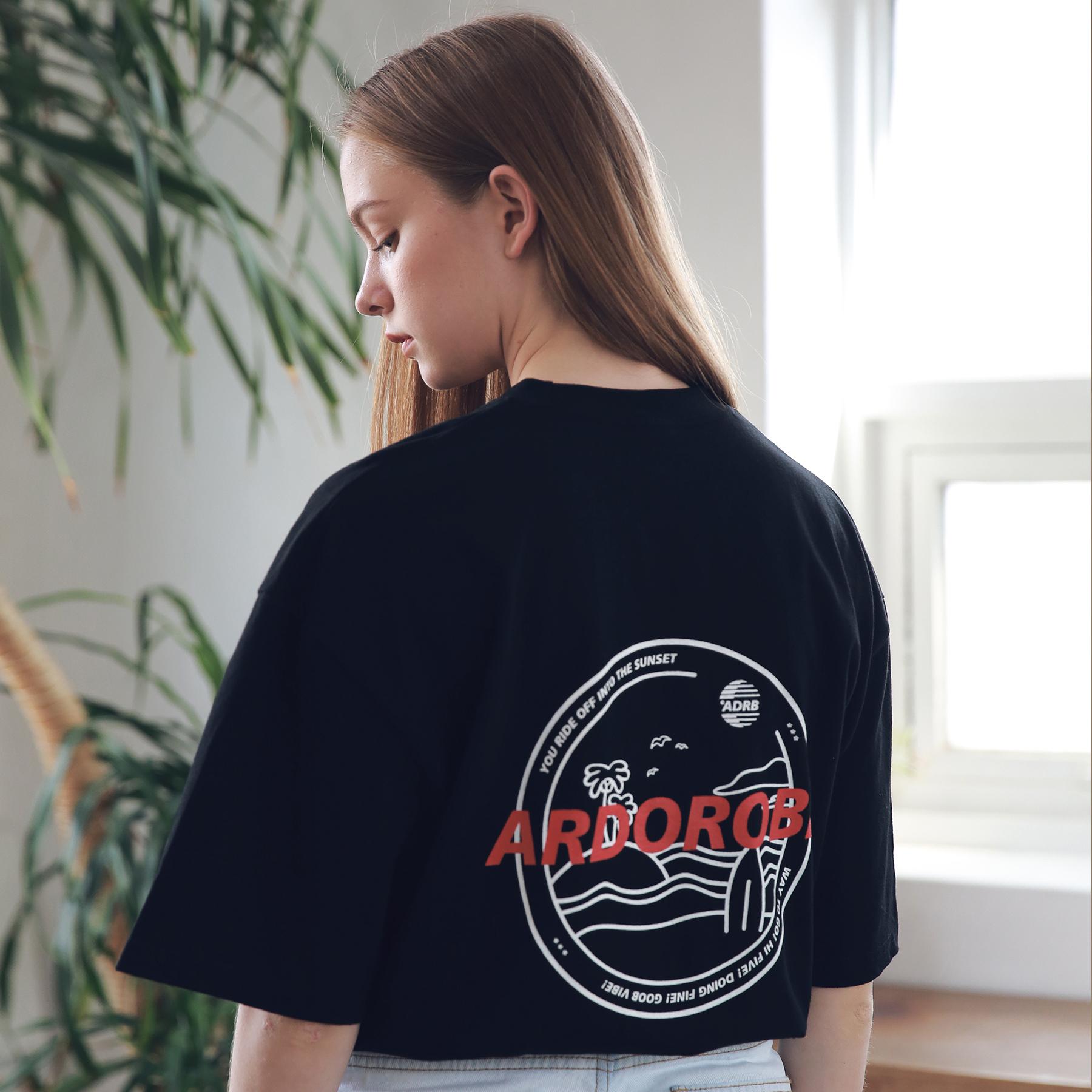 아더로브 유니섹스 아일랜드 서클 티셔츠 ATS192004-BK 반팔티