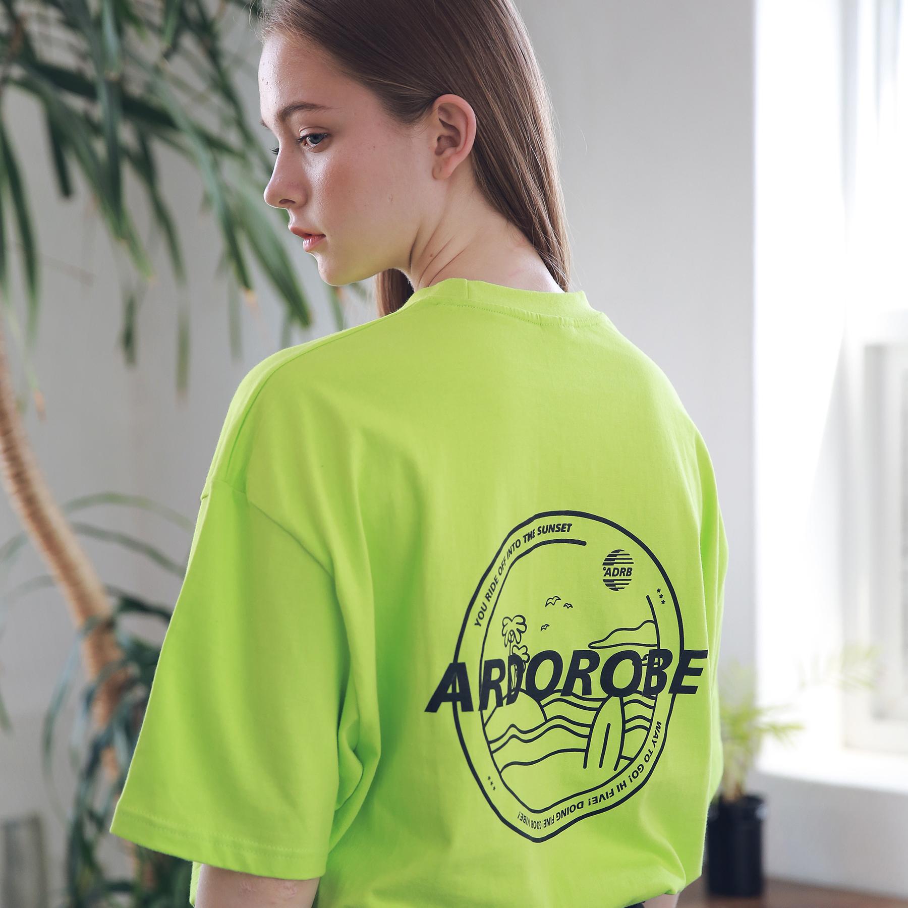 아더로브 유니섹스 아일랜드 서클 티셔츠 ATS192004-LG 반팔티