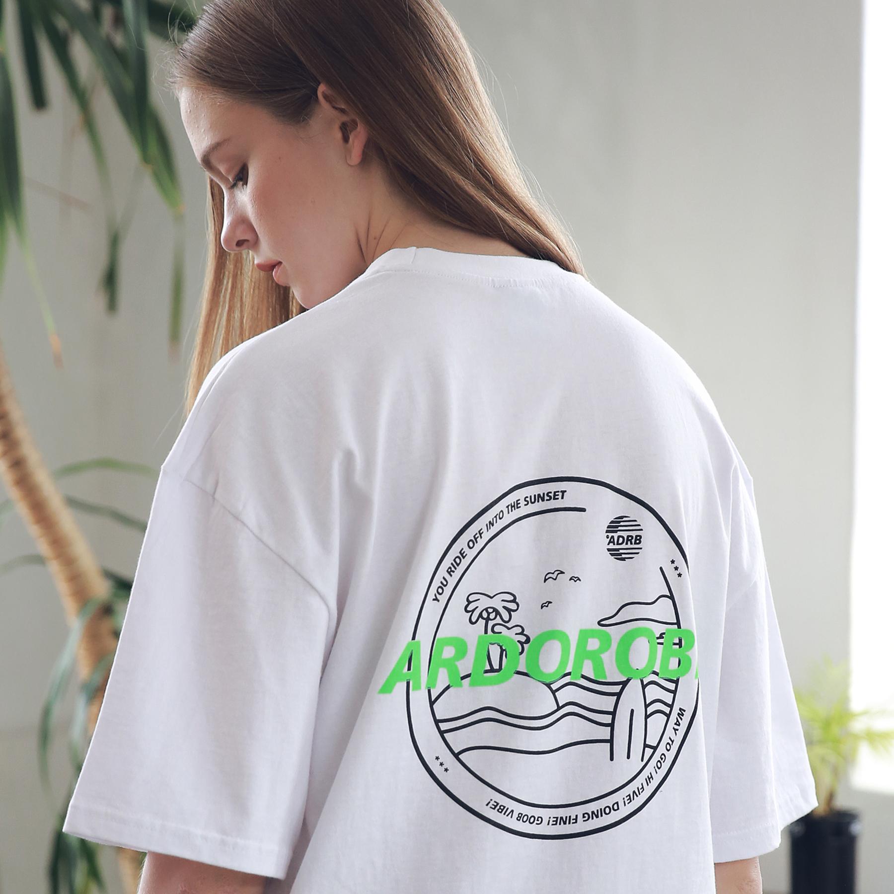 아더로브 유니섹스 아일랜드 서클 티셔츠 ATS192004-WT 반팔티