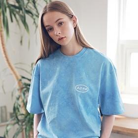 아더로브 유니섹스 일립스 로고 타이다이 티셔츠 ATS192006-BL 반팔티