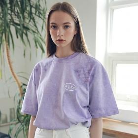 아더로브 유니섹스 일립스 로고 타이다이 티셔츠 ATS192006-PP 반팔티