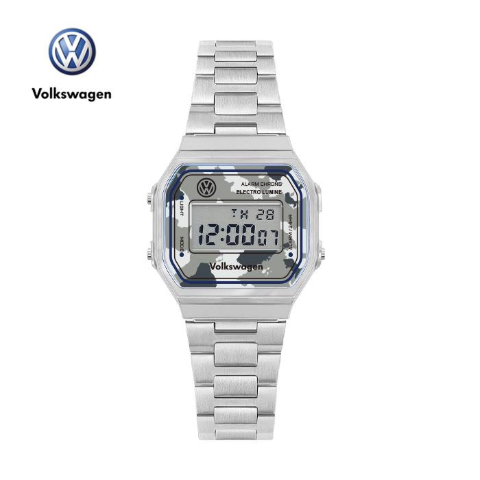 [폭스바겐] VW-Beetlecamo-GY 손목시계 메탈시계