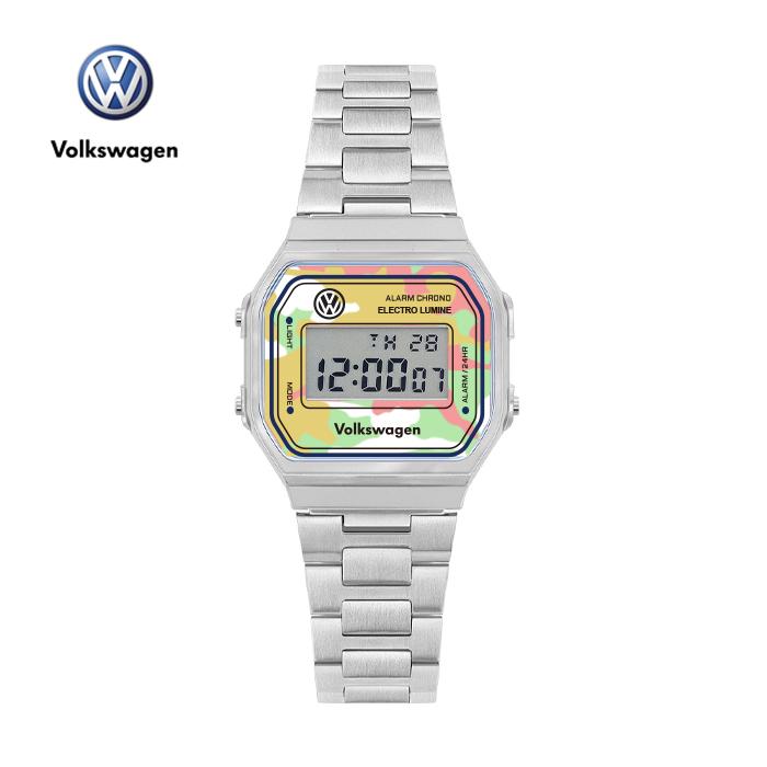 [폭스바겐] VW-Beetlecamo-CF 손목시계 메탈시계