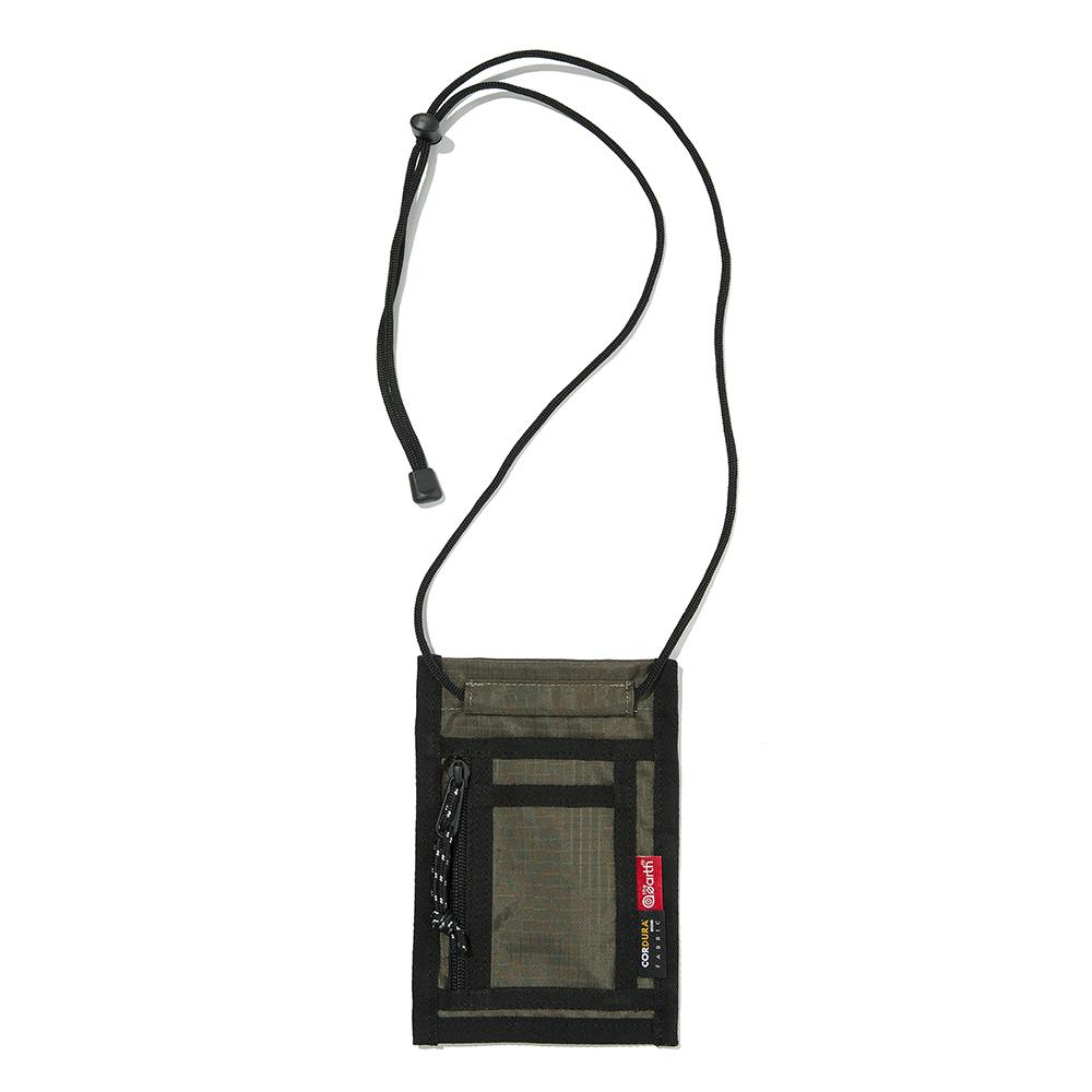 [디얼스]THE EARTH - RIPSTOP CORDURA CARD WALLET - OLIVE 립스탑 코듀라 목걸이 카드지갑 넥파우치