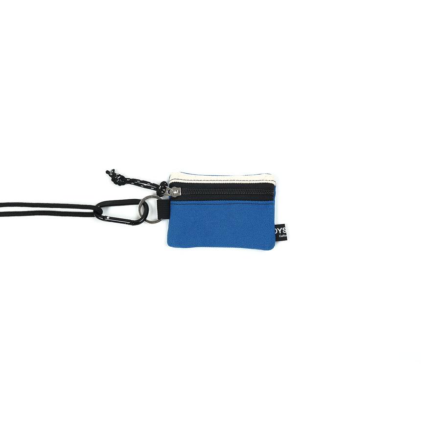 [오이스터컬쳐클럽] 목걸이 동전 카드 지갑 캔버스 마이크로 비너 파우치 베이지 블루