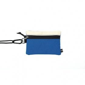 [오이스터컬쳐클럽] 캔버스 미디움 투톤 컬러 비너 투톤 파우치 베이지 블루
