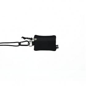 [오이스터컬쳐클럽] 목걸이 동전 카드 지갑 캔버스 마이크로 비너 파우치 블랙