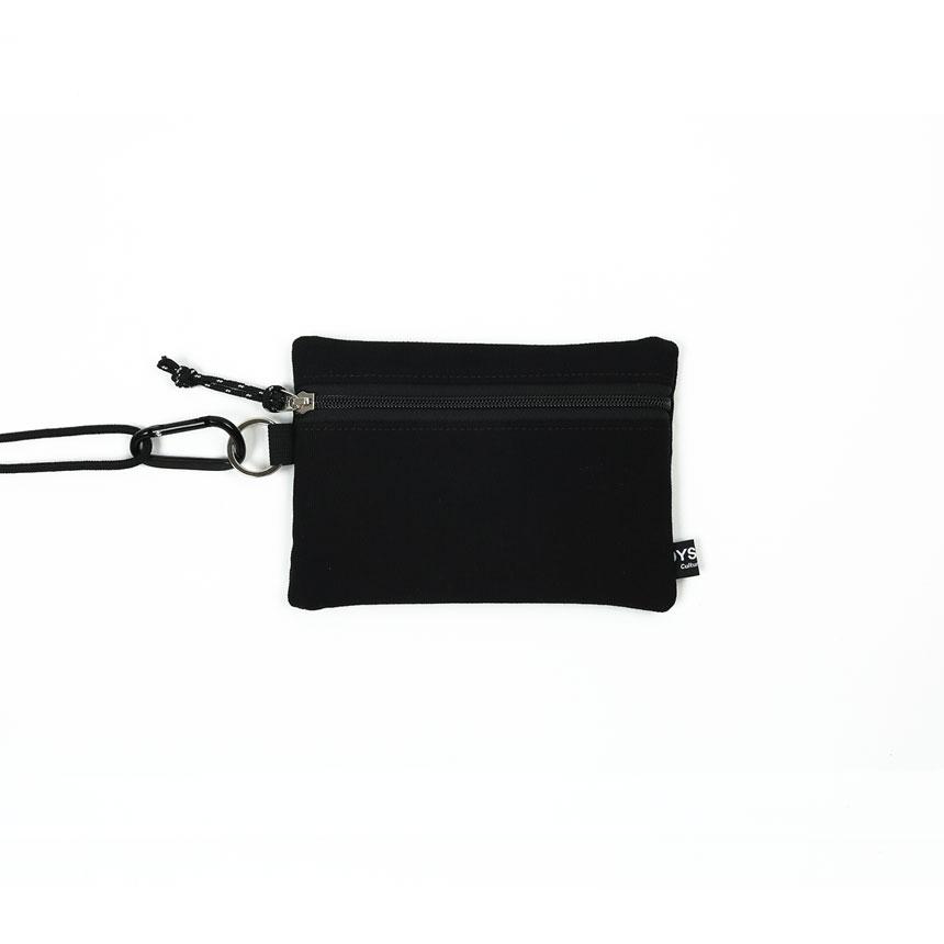 [오이스터컬쳐클럽] 캔버스 미디움 투톤 컬러 비너 투톤 파우치 블랙