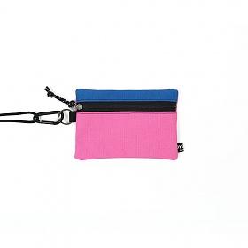 [오이스터컬쳐클럽] 캔버스 미디움 투톤 컬러 비너 투톤 파우치 블루 핑크