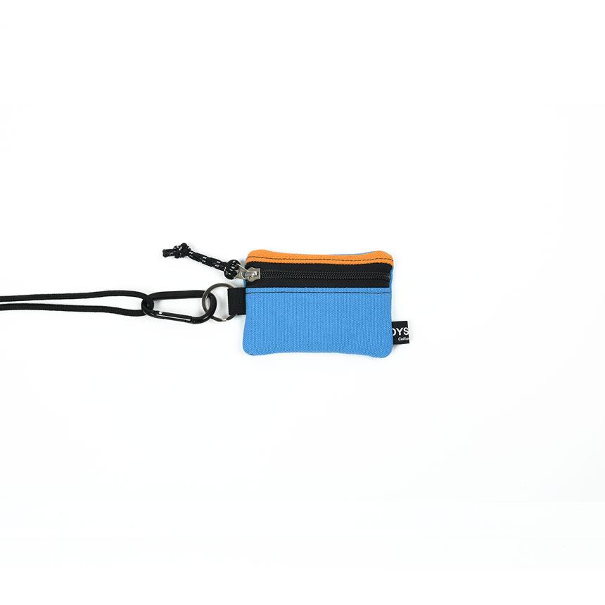 [오이스터컬쳐클럽] 목걸이 동전 카드 지갑 캔버스 마이크로 비너 파우치 다크옐로우 스카이