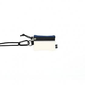 [오이스터컬쳐클럽] 목걸이 동전 카드 지갑 캔버스 마이크로 비너 파우치 네이비 베이지