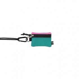 [오이스터컬쳐클럽] 목걸이 동전 카드 지갑 캔버스 마이크로 비너 파우치 핑크 민트