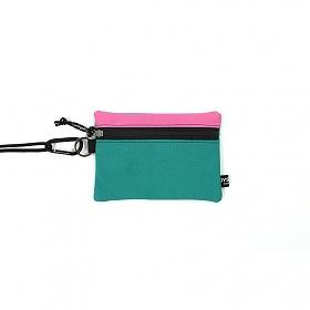 [오이스터컬쳐클럽] 캔버스 미디움 투톤 컬러 비너 투톤 파우치 핑크 민트