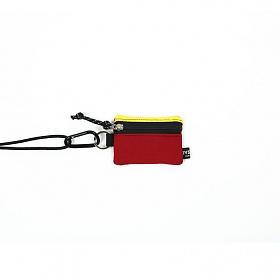 [오이스터컬쳐클럽] 목걸이 동전 카드 지갑 캔버스 마이크로 비너 파우치 옐로우 레드