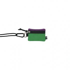 [오이스터컬쳐클럽] 목걸이 동전 카드 지갑 캔버스 마이크로 비너 파우치 퍼플 그린