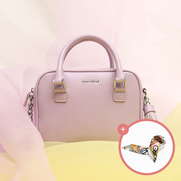 (★스카프증정)[브라비시모] 벨라 (Bella) - Lavender 토트백 크로스백 여성가방